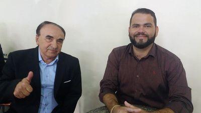 O pré-candidato a prefeito Richardson Lima e o ex-prefeito Madeira representam o diretório municipal