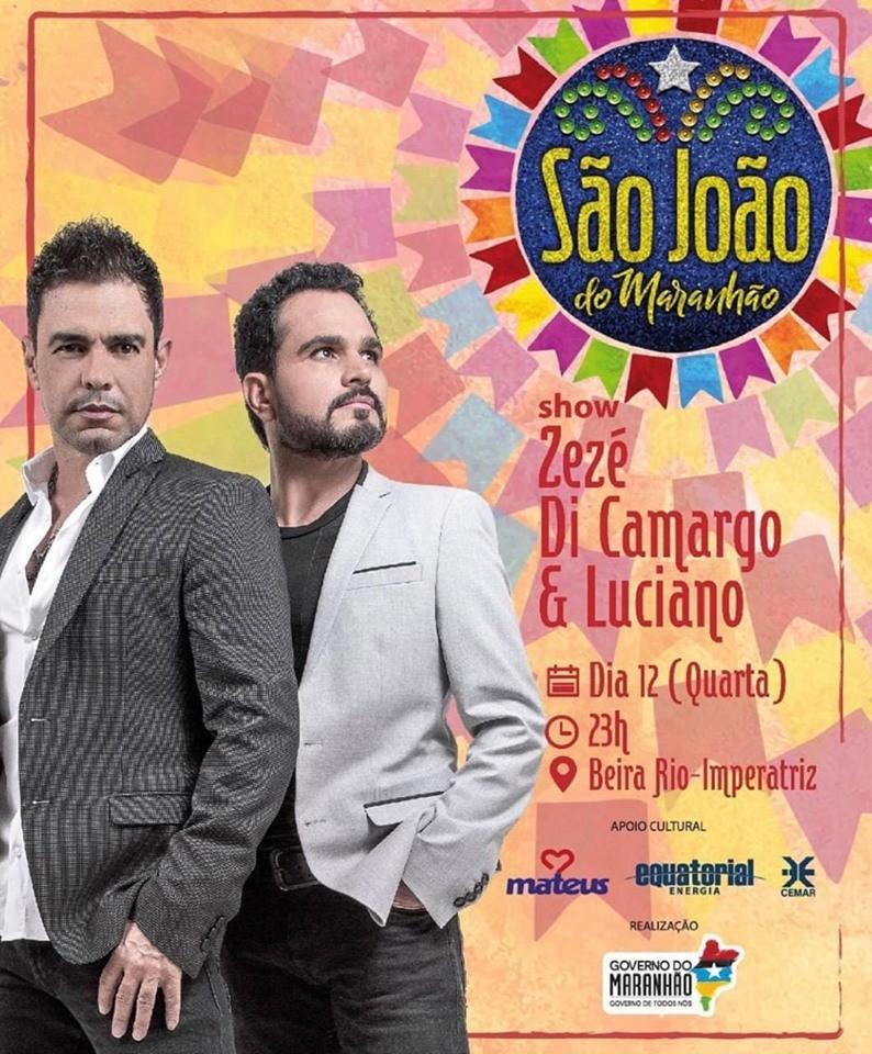 Zezé di Camargo & Luciano embalam Dia dos Namorados em Imperatriz