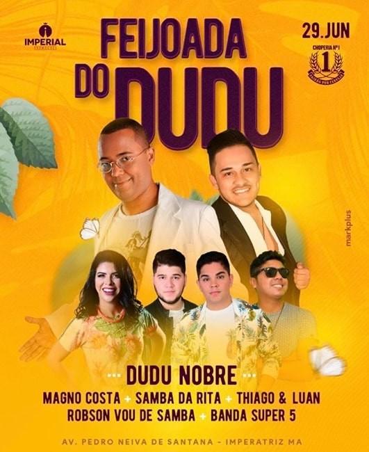 Dudu Nobre faz show este mês em Imperatriz