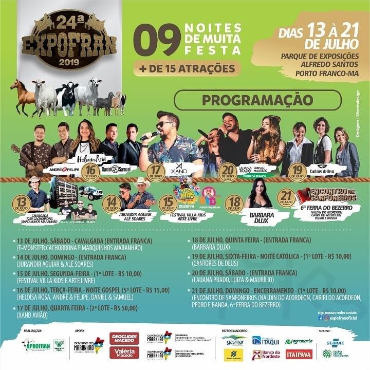 Expofran terá show gratuito com Lauana Prado & Luíza e Maurílio