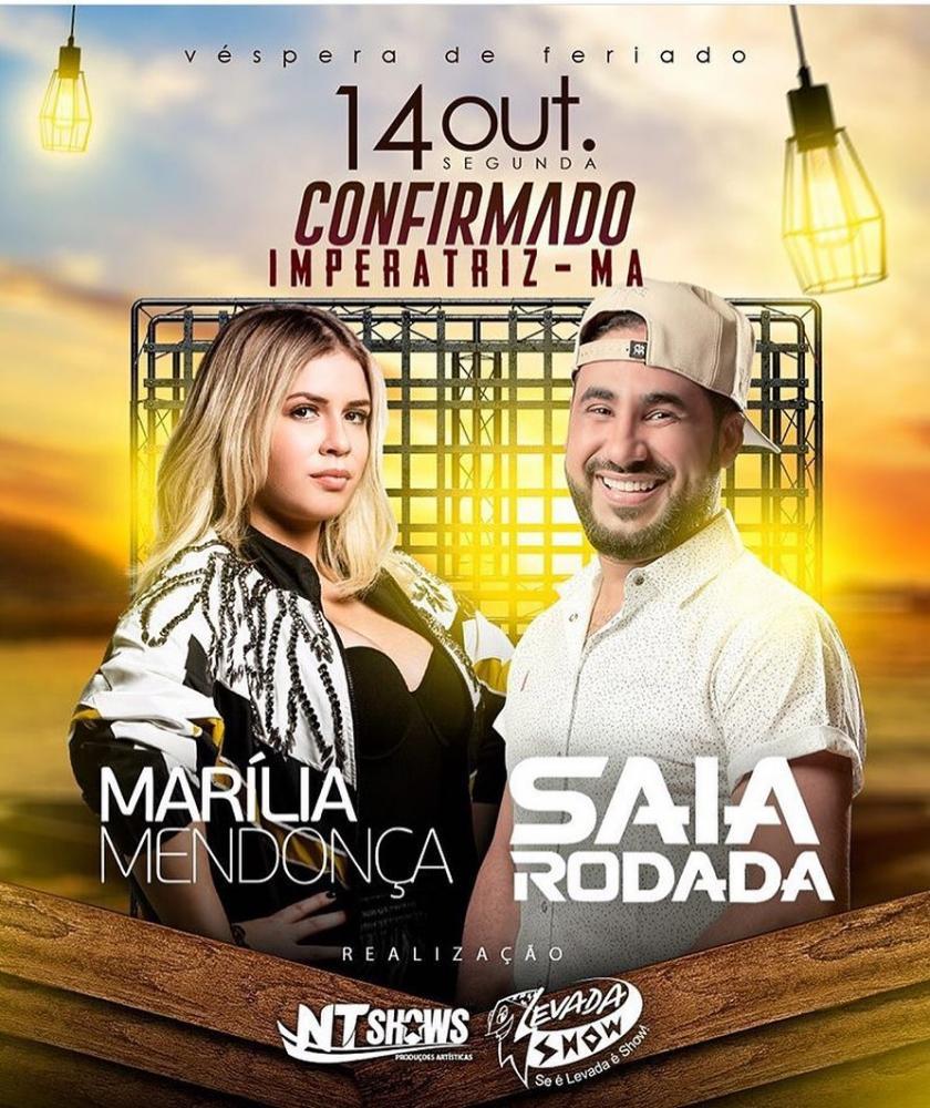 Começou as venda de ingressos do Show Marília Mendonça e Saia Rodada em Imperatriz